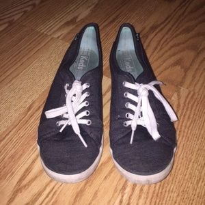 KEDS Womens Grey Lace Up Sneaker Shoes - Size 9
